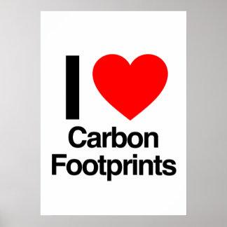 i love carbon footprints print