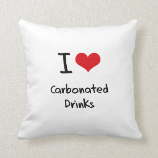 I love Carbonated Drinks Throw Pillow