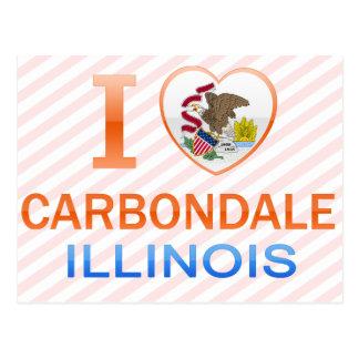 I Love Carbondale, IL Postcard