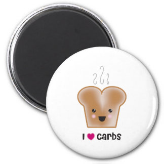 I Love Carbs 2 Inch Round Magnet