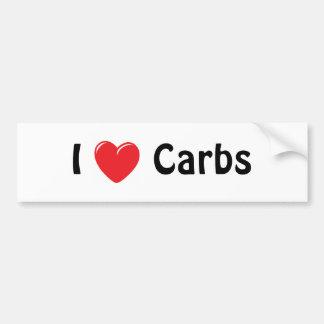 I Love Carbs Bumper Sticker