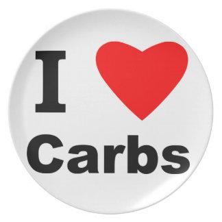 I Love Carbs! Dinner Plate