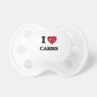 I Love Carbs food design BooginHead Pacifier
