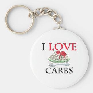 I Love Carbs Key Chain