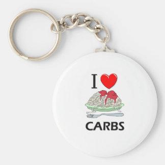 I Love Carbs Key Chains
