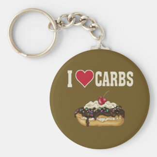 I Love Carbs Keychain