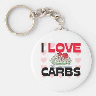 I Love Carbs Keychains