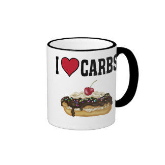 I Love Carbs Ringer Mug
