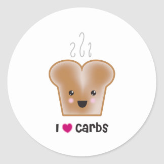 I Love Carbs Stickers