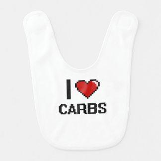 I Love Carbs Baby Bib