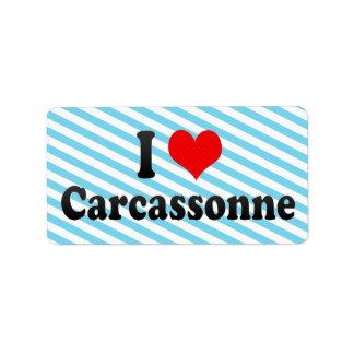I Love Carcassonne, France Label