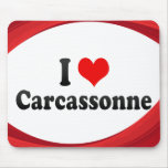 I Love Carcassonne, France Mouse Pad
