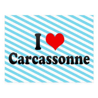 I Love Carcassonne, France Postcard