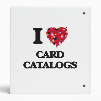 I love Card Catalogs Binder