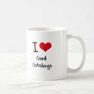 I love Card Catalogs Classic White Coffee Mug