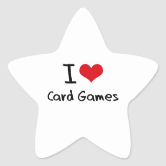 I love Card Games Star Sticker