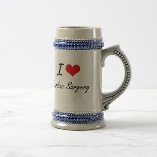 I love Cardiac Surgery Artistic Design 18 Oz Beer Stein