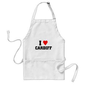 I love Cardiff Adult Apron