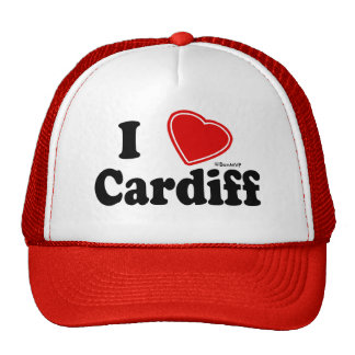 I Love Cardiff Trucker Hat