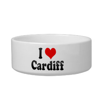 I Love Cardiff, United Kingdom Cat Food Bowls
