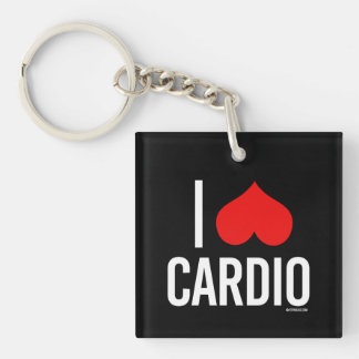 I Love Cardio -   Girl Fitness -.png Keychain