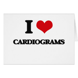 I love Cardiograms Greeting Cards
