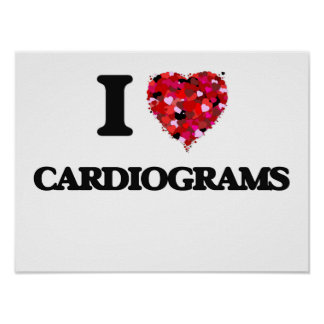 I love Cardiograms Poster