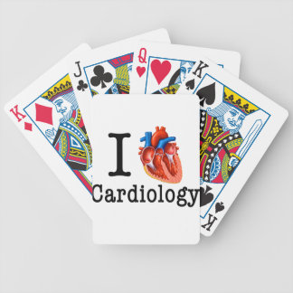 I love Cardiology Bicycle Playing Cards