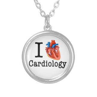 I love Cardiology Silver Plated Necklace
