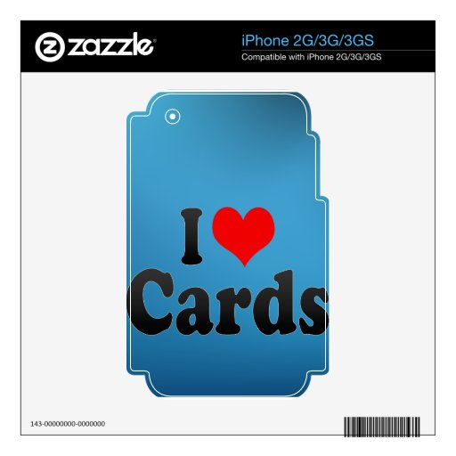 I love Cards iPhone 2G Skins