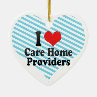 I Love Care Home Providers Christmas Tree Ornament