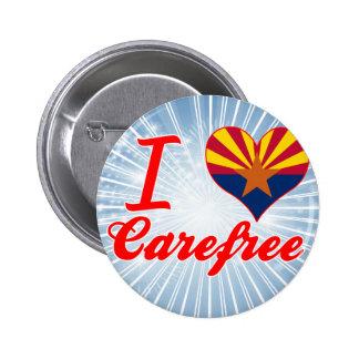 I Love Carefree, Arizona Pinback Button