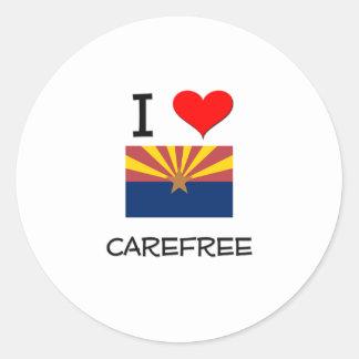 I Love CAREFREE Arizona Round Sticker