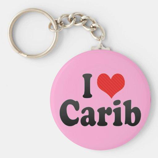 I Love Carib Key Chains