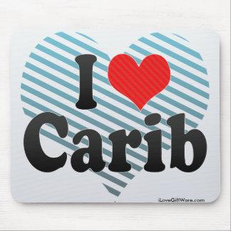 I Love Carib Mouse Pad