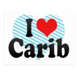 I Love Carib Postcard