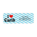 I Love Carib Return Address Labels
