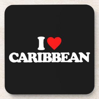 I LOVE CARIBBEAN COASTERS