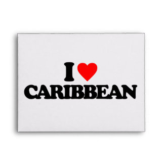 I LOVE CARIBBEAN ENVELOPES