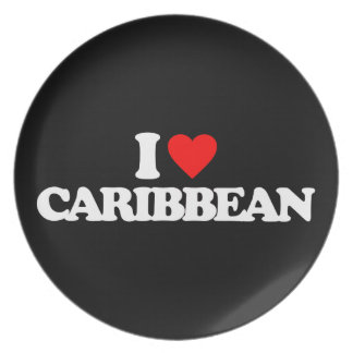I LOVE CARIBBEAN PARTY PLATE