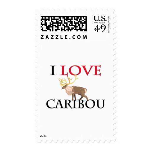 I Love Caribou Postage