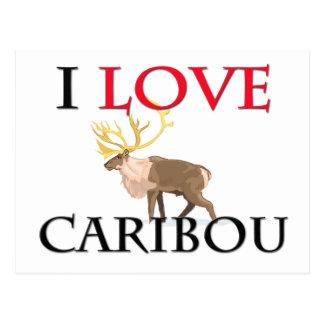I Love Caribou Postcard