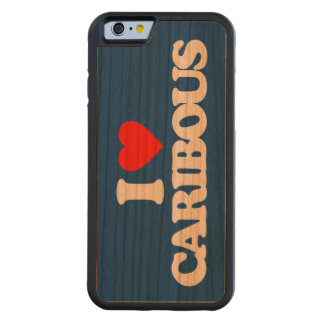 I LOVE CARIBOUS CARVED CHERRY iPhone 6 BUMPER CASE
