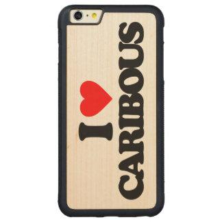I LOVE CARIBOUS CARVED MAPLE iPhone 6 PLUS BUMPER CASE