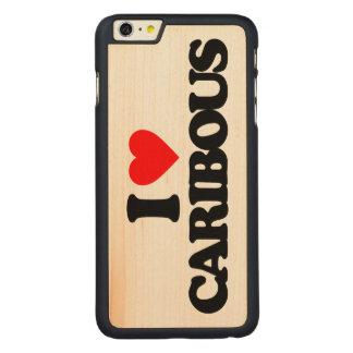 I LOVE CARIBOUS CARVED MAPLE iPhone 6 PLUS SLIM CASE