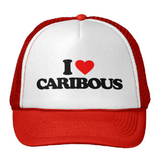 I LOVE CARIBOUS TRUCKER HAT