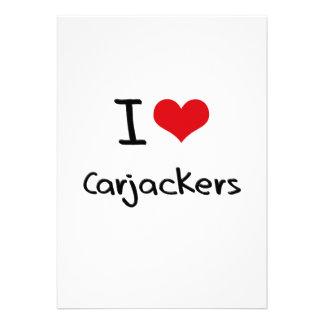 I love Carjackers Custom Invitation