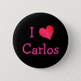 I Love Carlos Button