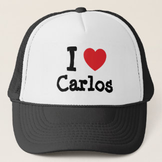 I love Carlos heart custom personalized Trucker Hat