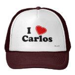 I Love Carlos Mesh Hat